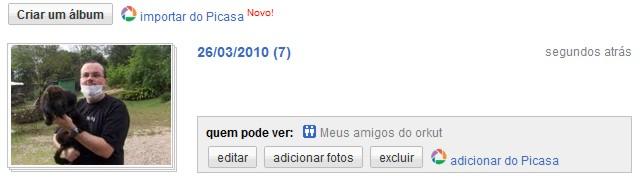 picasa web orkut 5 Orkut ganha importação de fotos do Picasa Web