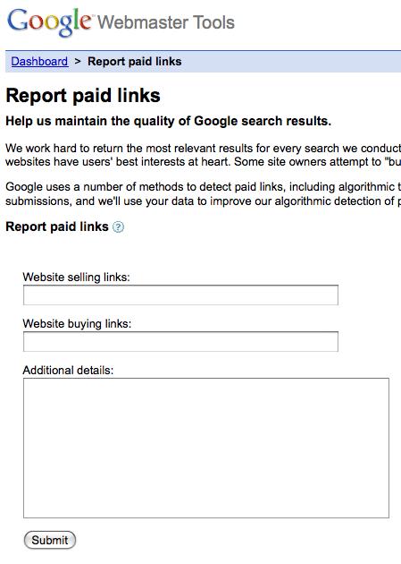 Formulário de Reportar Spam