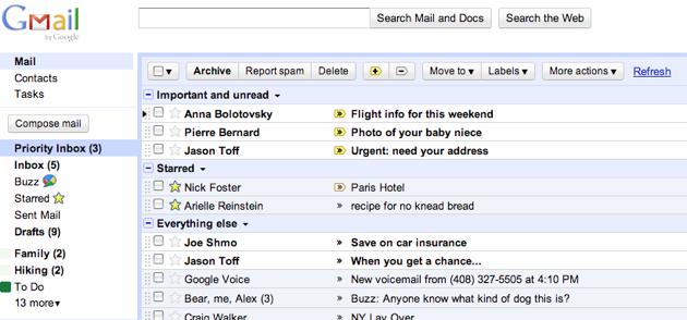 priority mail Confirmado: Mensagens Prioritárias no Gmail!