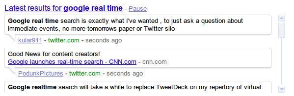 real time1 Google revela mecanismo de pesquisa em tempo real