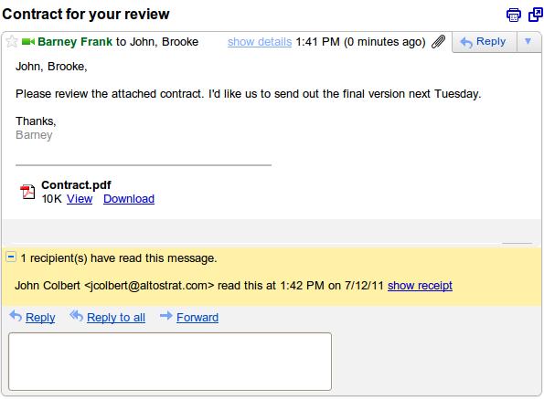 recibo leitura Google Apps ganha recurso de confirmação de leitura de e mails