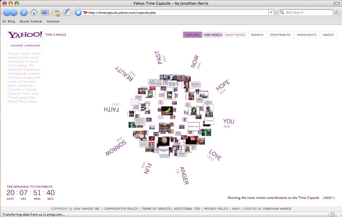 Cápsula do Tempo do Yahoo! será aberta em 2020. Ou não.