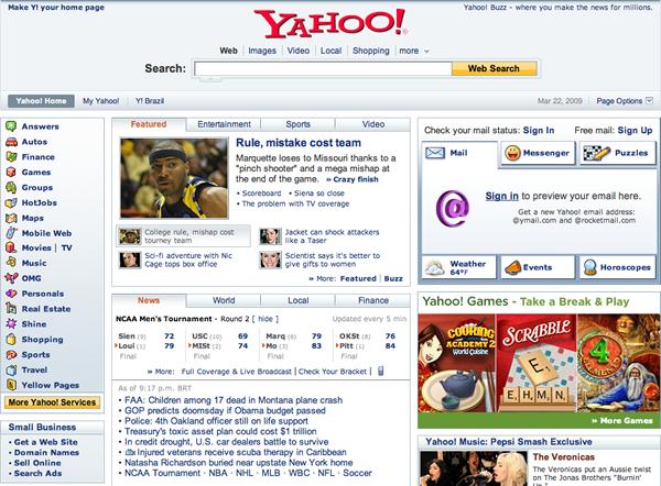 yly Como seria o Google com o layout do Yahoo!?