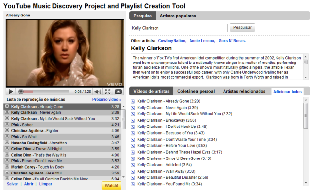 youtube discovery2 e1264355391300 YouTube Music Discovery Project