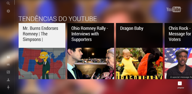 youtube tv YouTube lança nova interface otimizada para TVs
